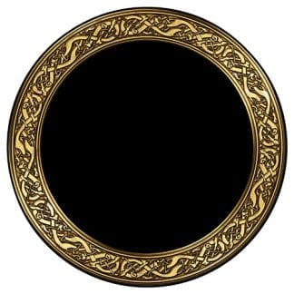 scrying-mirror-celtic-snakes